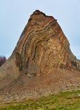 Fur marine sediment clay minerals, Fur Island, Denmark. Fur formation, marine sediment made of diatoms and clay minerals, Palaeocene-Eocene, Fur Island, Denmark royalty free stock images