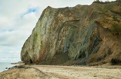 Fur marine sediment clay minerals, Fur Island, Denmark Stock Photos