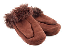 Fur Mittens Royalty Free Stock Photography