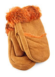 Fur Mittens Stock Photos