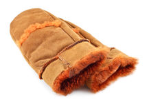 Fur Mittens Stock Photo