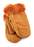 Fur Mittens Stock Photography
