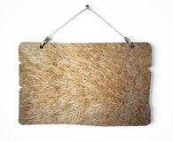 Fur notice board. Isolated on white a white background Stock Image