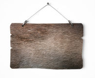 Fur notice board. Isolated on white a white background Royalty Free Stock Photography