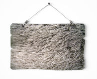 Fur notice board. Isolated on white a white background Royalty Free Stock Image
