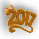 2017 fur number Stock Image