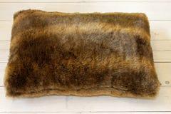 Fur pillow Stock Photo