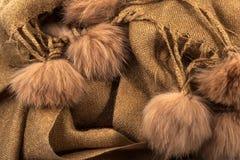 Fur pompons Royalty Free Stock Photos