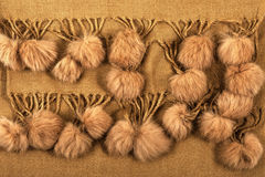 Fur pompons Royalty Free Stock Images