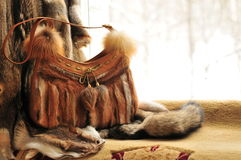 Fur Purse Stock Photography