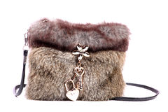 Fur purse Royalty Free Stock Photos