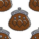 Fur purse Scottish symbol bagpipes player accessory seamless pattern. Scottish symbol fur purse bagpipes player accessory seamless pattern travel to Scotland stock illustration