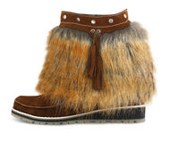 Fur shoe Stock Photo