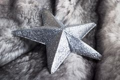 Fur and silver star royalty free stock photos