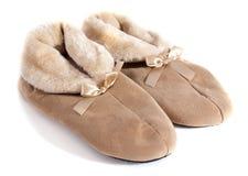 Fur slipper Royalty Free Stock Image