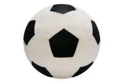 Fur soccer ball isolated on white Royalty Free Stock Images
