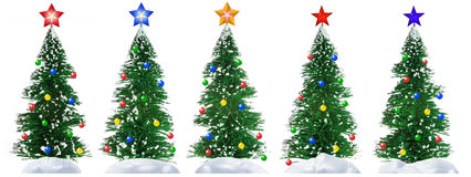 Free Fur-tree And Star Royalty Free Stock Photography - 3370547
