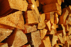Fur-tree fire wood. Many the combined dry fur-tree fire wood Stock Photo