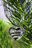 Fur-tree heart. The heart are on the fur-tree Royalty Free Stock Image