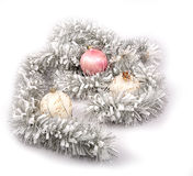 Fur-tree spheres and garland Royalty Free Stock Image