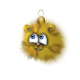 Fur-tree toy - a small tiger. We have a fur-tree toy - a small tiger on a white background Royalty Free Stock Photography