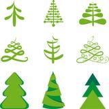 Fur-trees. Stylized fur-trees. Christmas illustration Royalty Free Stock Image