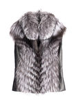 Fur vest. Isolated on white royalty free stock photos