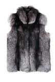 Fur vest izolated on white Royalty Free Stock Photos