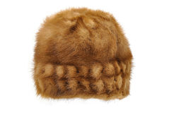 Fur winter cap Royalty Free Stock Images
