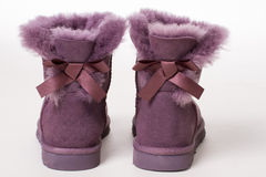 Fur women's boots. Stock Image