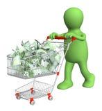 fura zakupy euro kukiełkowy ilustracji