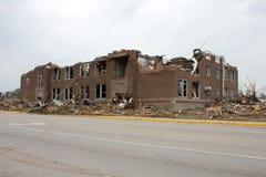 Furacão danificado Joplin Mo da escola primária Fotos de Stock
