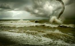 Furacão do oceano Fotografia de Stock Royalty Free
