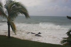 Furacão Maria Rincon, Porto Rico 2017 imagens de stock