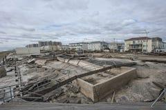 Furacão Sandy das consequências foto de stock
