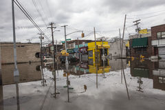 Furacão Sandy das consequências Foto de Stock Royalty Free