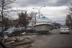 Furacão Sandy das consequências fotografia de stock royalty free