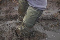 Furado na lama Imagens de Stock