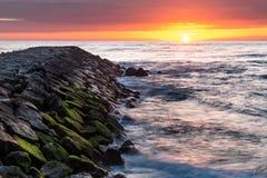 Furadouro海滩风景  库存图片