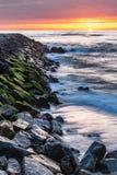 Furadouro海滩风景  免版税图库摄影