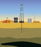 Furando um poço de gás (Médio Oriente) Foto de Stock