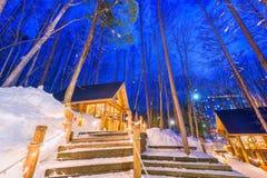 Furano, de Wintercabines van Japan royalty-vrije stock foto