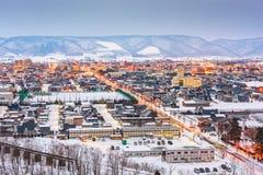 Furano, Hokkaido, Japan Skyline Stock Photos