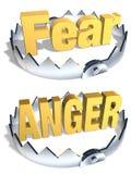 Furcht-/Zorn-Falle Stockfoto