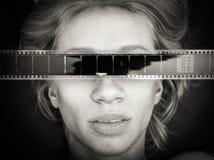 Furchthorrorfilm-Menschenporträt lizenzfreies stockbild