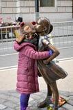 Furchtloses Mädchen lizenzfreie stockbilder