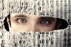 Furchtsame Augen eines Mannes Lizenzfreies Stockbild
