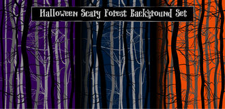 Furchtsame Baum-Niederlassungen Halloween Lizenzfreies Stockfoto