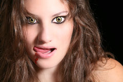 Furchtsame Frau Stockfotografie