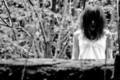 Furchtsame Frau der Grausigkeit Stockfotografie